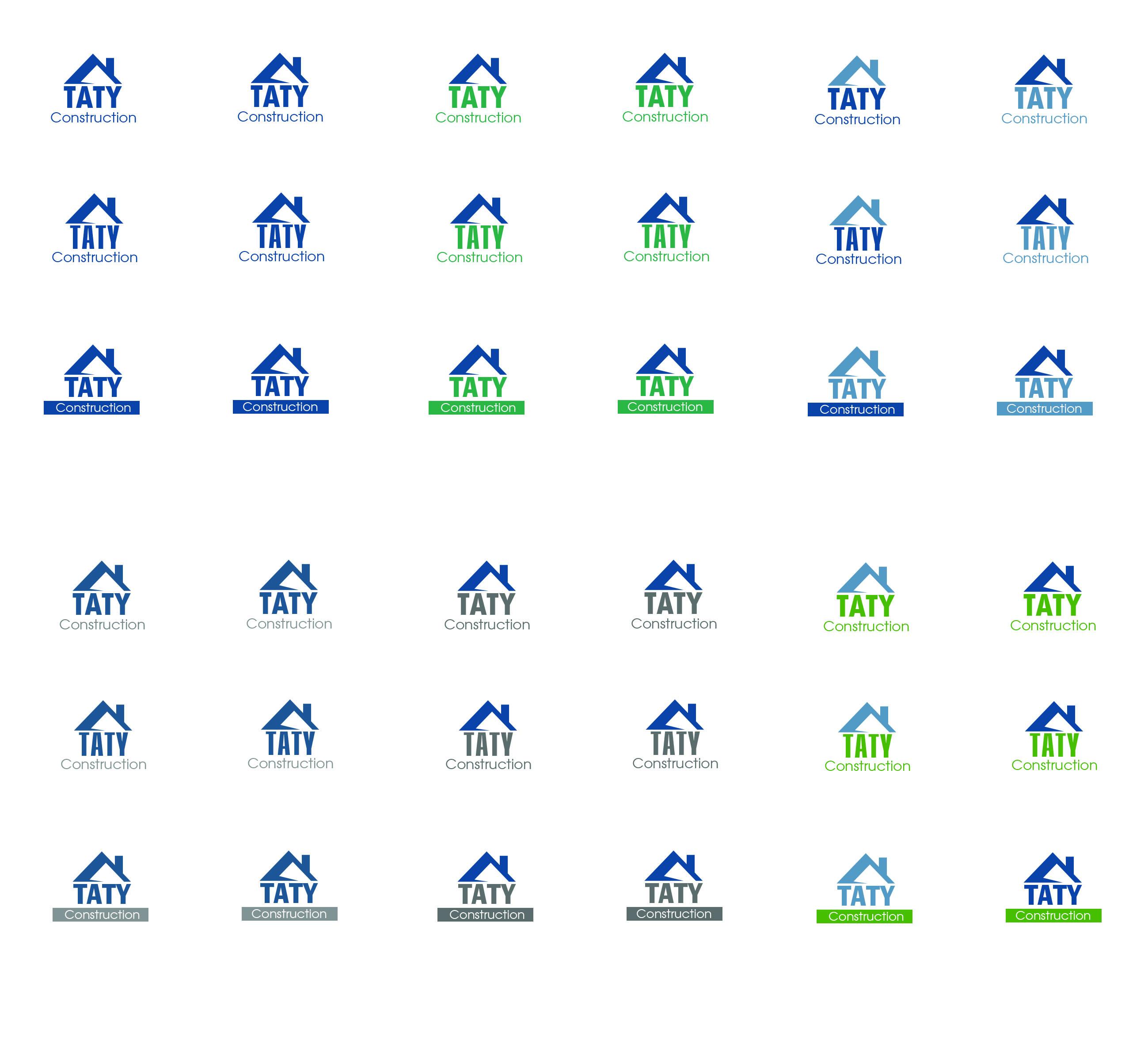 taty construction inc logo design